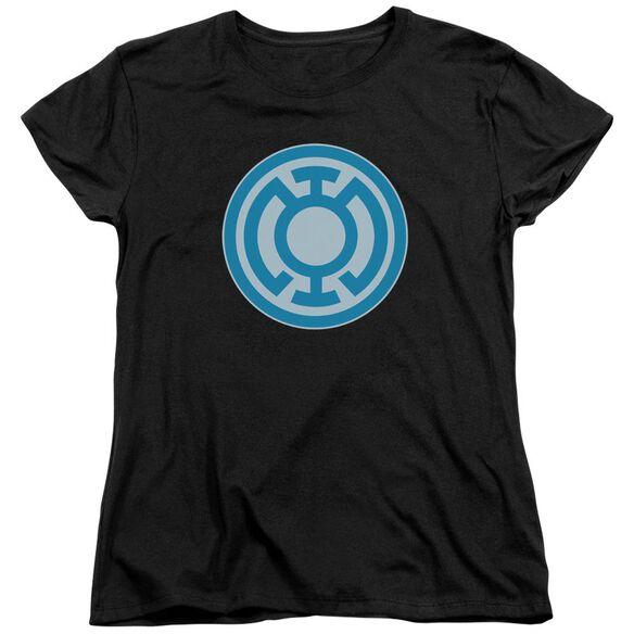 Green Lantern Blue Symbol Short Sleeve Womens Tee T-Shirt