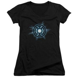 Green Lantern Blue Glow Junior V Neck T-Shirt
