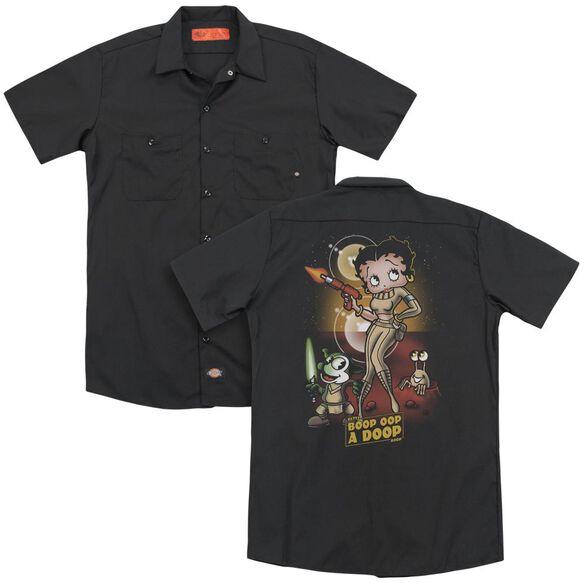Betty Boop Star Princess (Back Print) Adult Work Shirt