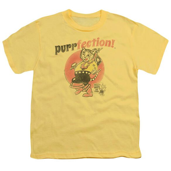 Puss N Boots Purrfection Short Sleeve Youth T-Shirt