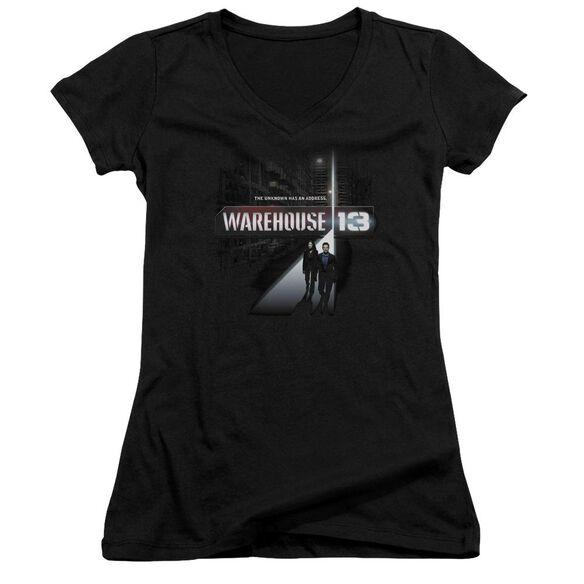 Warehouse 13 The Unknown - Junior V-neck - Black