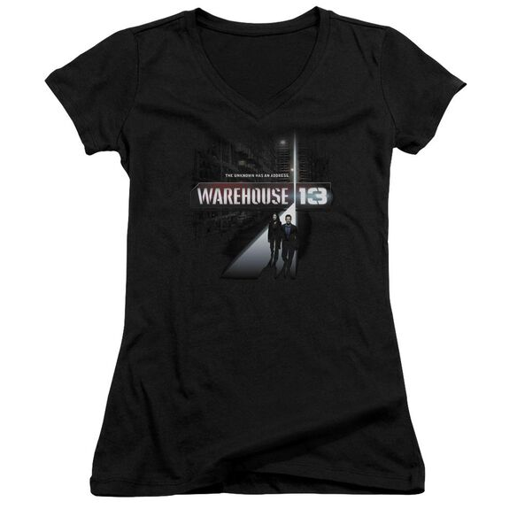 Warehouse 13 The Unknown Junior V Neck T-Shirt