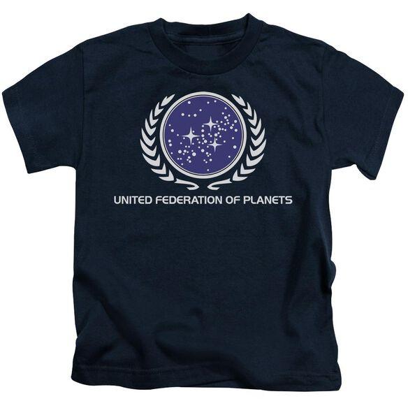Star Trek United Federation Logo Short Sleeve Juvenile Navy T-Shirt