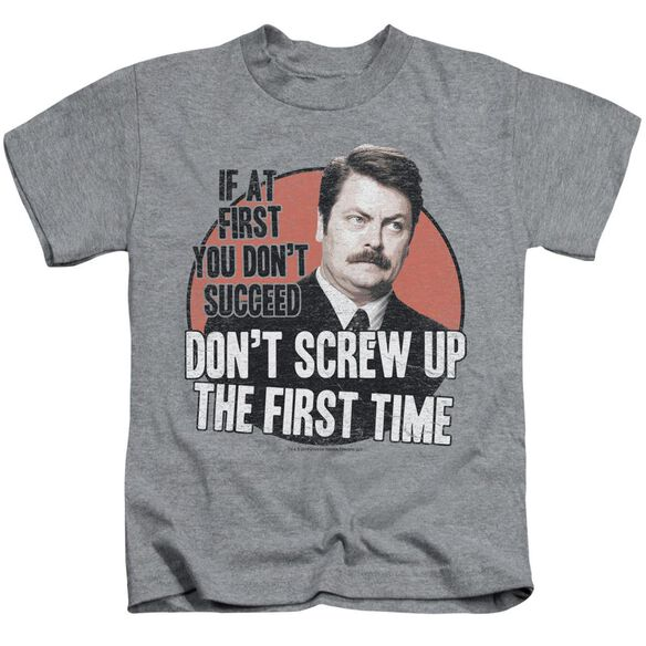 Parks And Rec Don't Screw Up Short Sleeve Juvenile Athletic T-Shirt