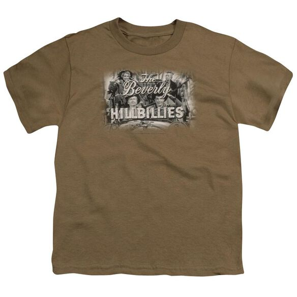 BEVERLY HILLBILLIES LOGO - S/S YOUTH 18/1 - SAFARI GREEN T-Shirt