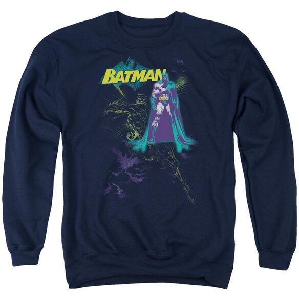 Batman Bat Spray Adult Crewneck Sweatshirt