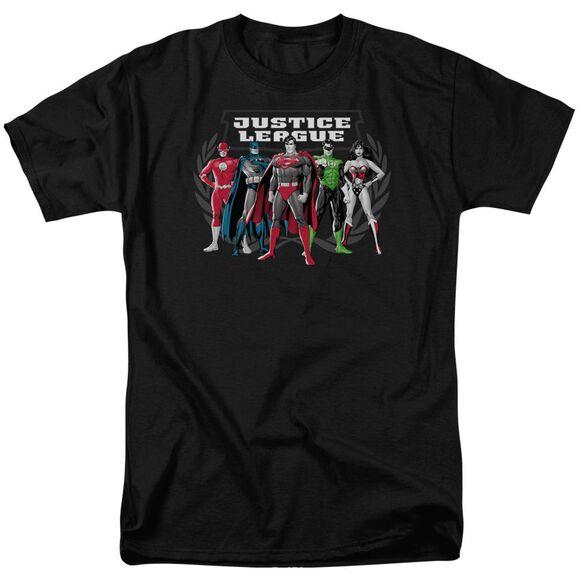 Jla The Big Five Short Sleeve Adult T-Shirt