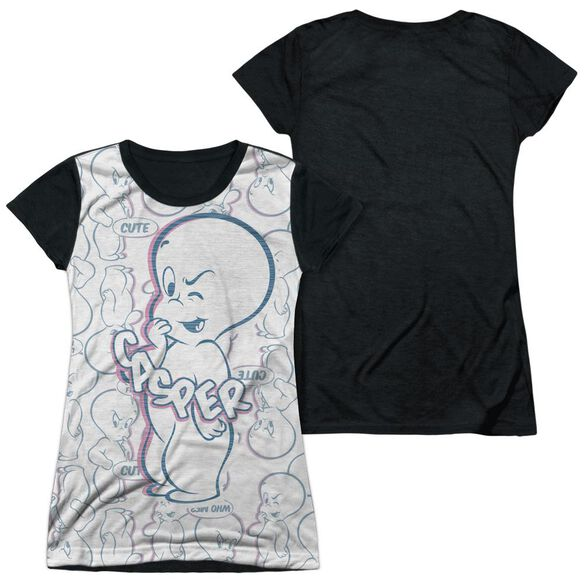 69ddbfd03 Images. Casper Friendly Ghost Short Sleeve Junior Poly Black Back T-Shirt