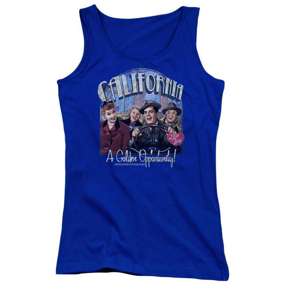 I Love Lucy Golden Opportunity Juniors Tank Top Royal