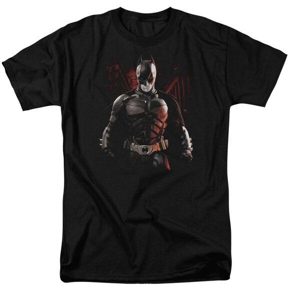 Dark Knight Rises Batman Battleground Short Sleeve Adult Black T-Shirt