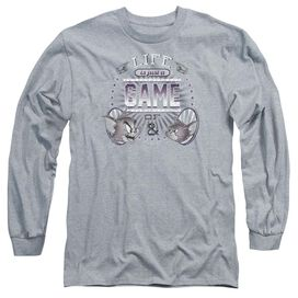Tom And Jerry Life Is A Game Long Sleeve Adult Athletic T-Shirt