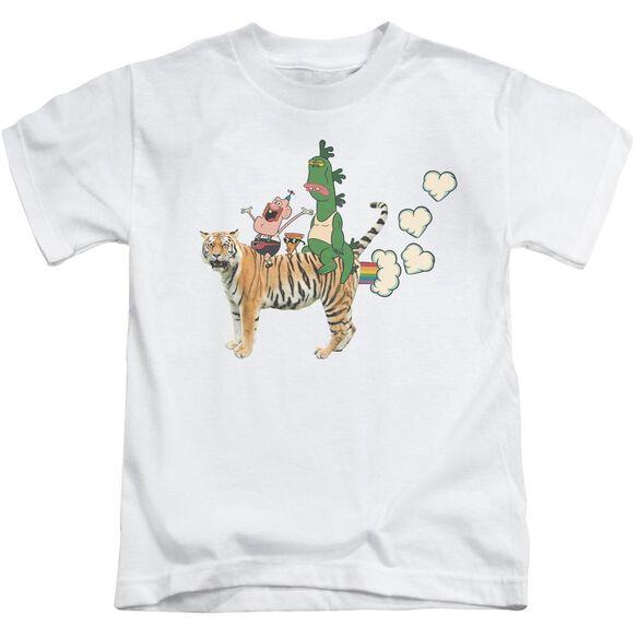 Uncle Grandpa Fart Hearts Short Sleeve Juvenile T-Shirt