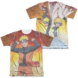 Naruto Naruto (Front Back Print) Adult Poly Cotton Short Sleeve Tee T-Shirt