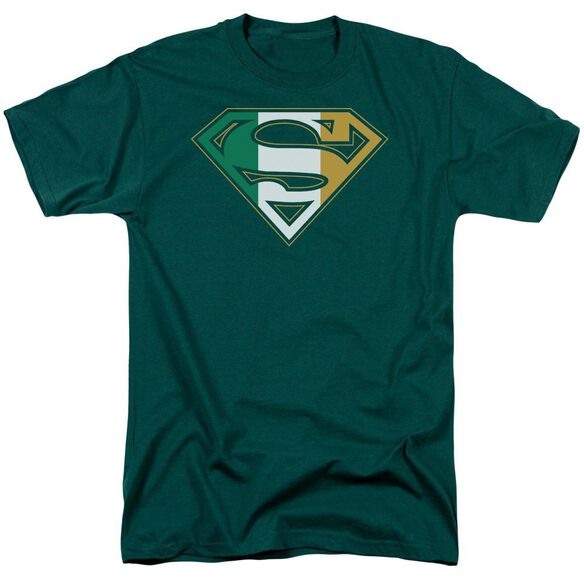 Superman Irish Shield Short Sleeve Adult Hunter T-Shirt