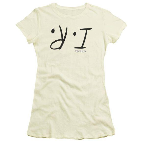 I Am Weasel I R Short Sleeve Junior Sheer T-Shirt