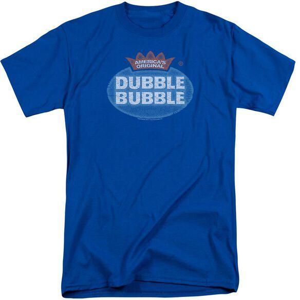 Dubble Bubble Vintage Logo Short Sleeve Adult Tall Royal T-Shirt