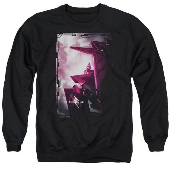 Power Rangers Pink Zord Poster Adult Crewneck Sweatshirt