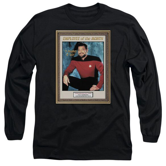 Star Trek Employee Of Month Long Sleeve Adult T-Shirt