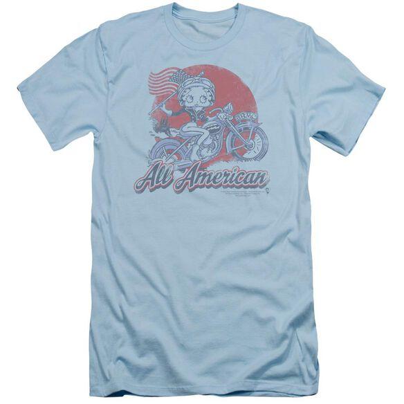 Betty Boop All American Biker Short Sleeve Adult Light T-Shirt