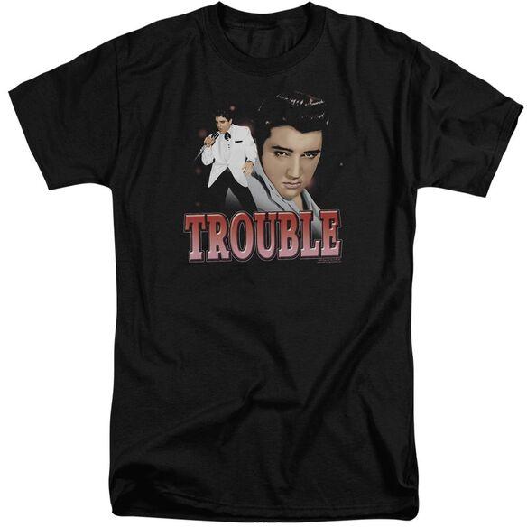 Elvis Trouble Short Sleeve Adult Tall T-Shirt
