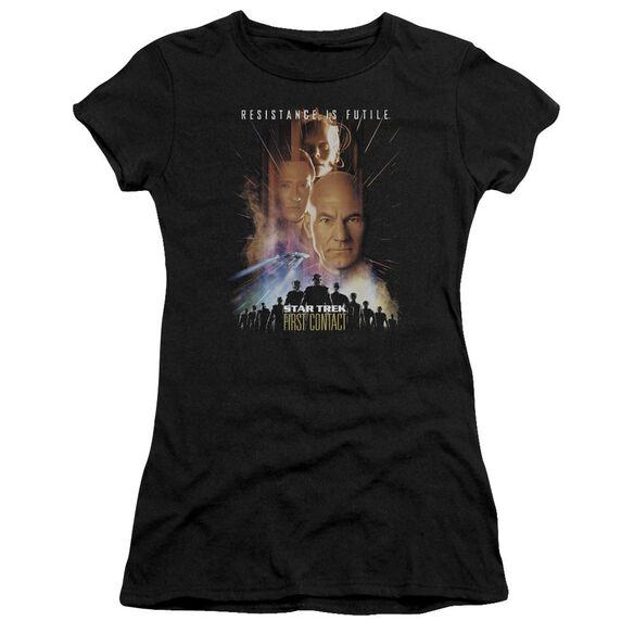 Star Trek First Contact(Movie) Short Sleeve Junior Sheer T-Shirt