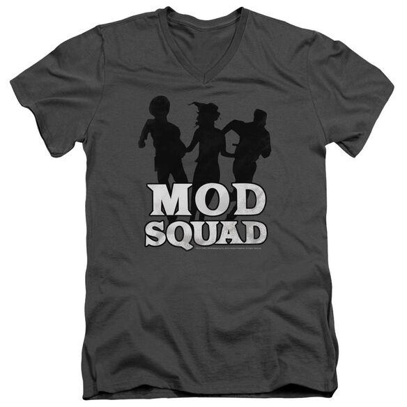 Mod Squad Mod Squad Run Simple Short Sleeve Adult V Neck T-Shirt