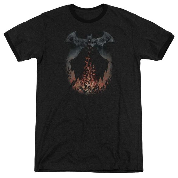 Batman Smoke & Fire Adult Heather Ringer