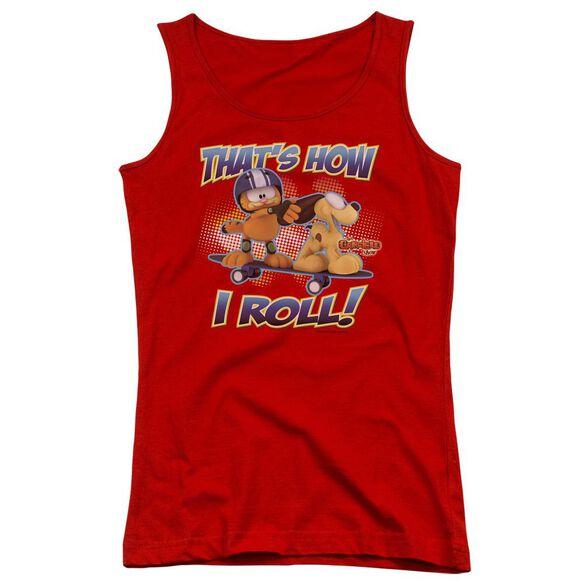 Garfield How I Roll Juniors Tank Top