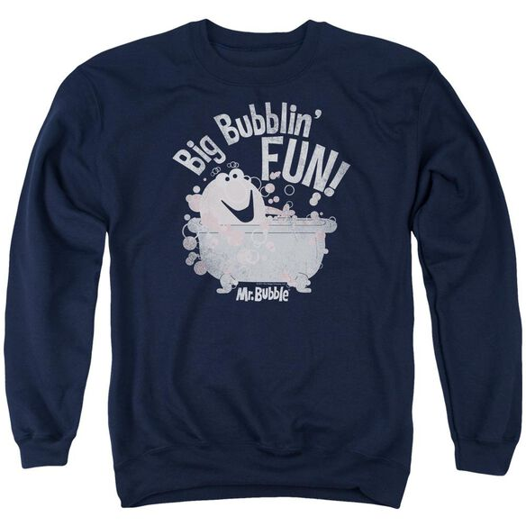 Mr Bubble Big Bubblin Fun Adult Crewneck Sweatshirt
