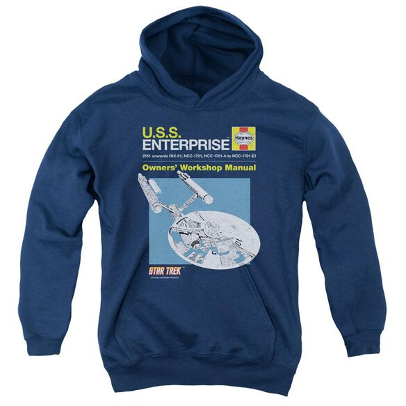 Star Trek Enterprise Manual Youth Pull Over Hoodie