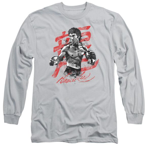 Bruce Lee Ink Splatter Long Sleeve Adult T-Shirt