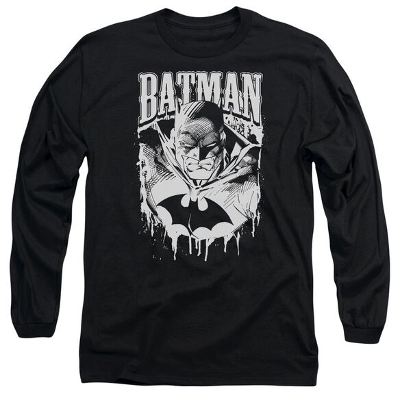 Batman Bat Metal Long Sleeve Adult T-Shirt