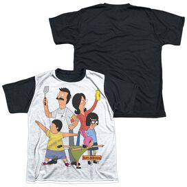 Bobs Burgers Hero Pose Short Sleeve Youth Front Black Back T-Shirt