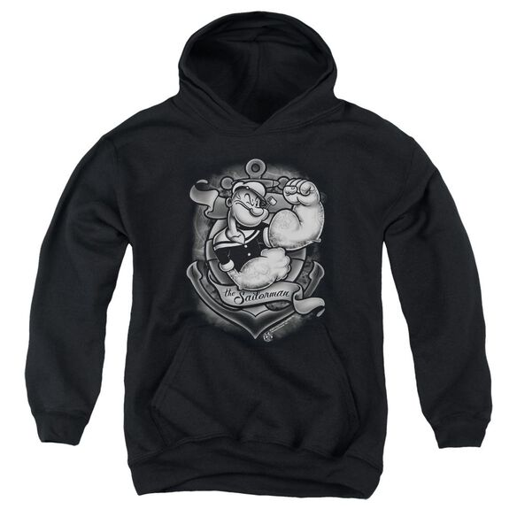 Popeye Anchors Away Youth Pull Over Hoodie