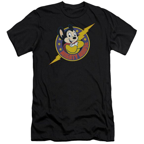 Mighty Mouse Mighty Hero Short Sleeve Adult T-Shirt