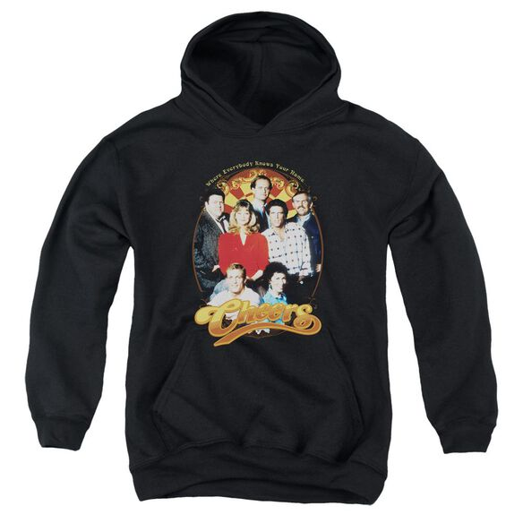 Cheers Group Shot Youth Pull Over Hoodie