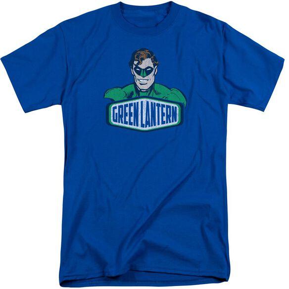Dco Green Lantern Sign Short Sleeve Adult Tall Royal T-Shirt