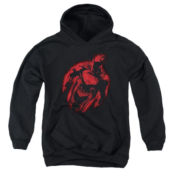 Superman Sprayed Supes Youth Pull Over Hoodie