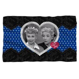 I Love Lucy Lace Of Friendship Fleece Blanket