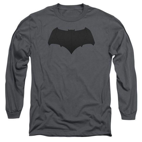 Batman V Superman Batman Logo Long Sleeve Adult T-Shirt