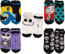 Nightmare Before Christmas 5 Pair Ankle Socks Set