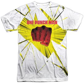 One Punch Man Shattered Short Sleeve Adult Poly Crew T-Shirt