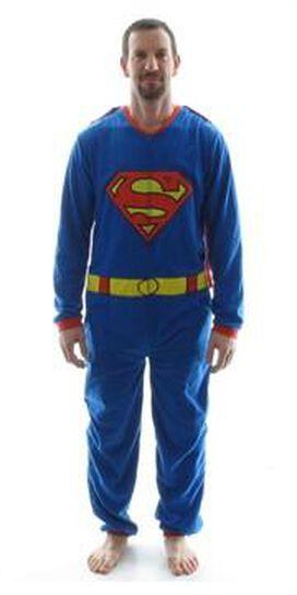 Superman Costume Cape Union Suit