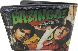 Big Bang Theory Bazinga Comic Book Wallet