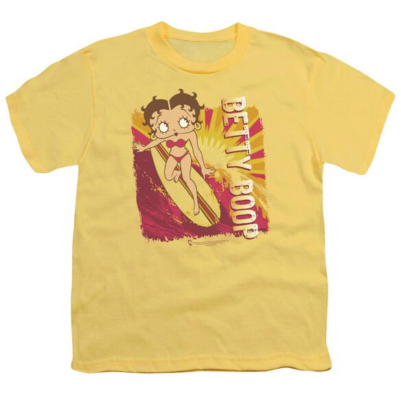 Betty Boop Sunset Surf Short Sleeve Youth T-Shirt