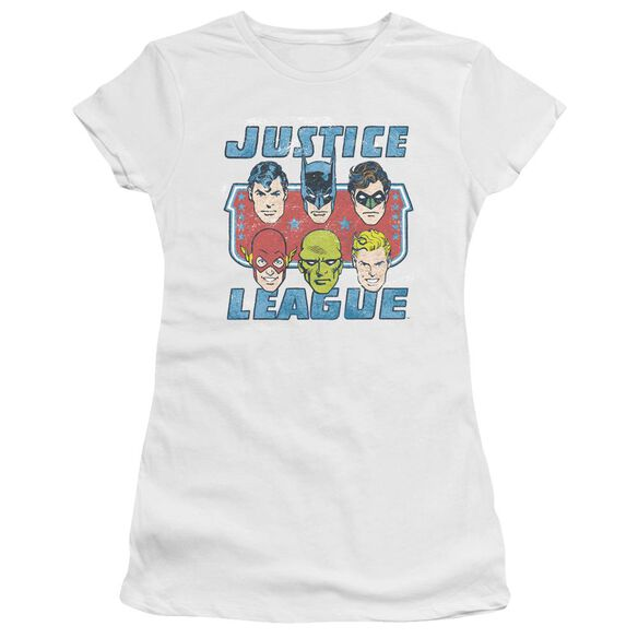 Dc Faces Of Justice Short Sleeve Junior Sheer T-Shirt