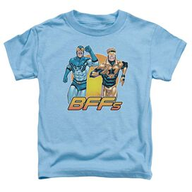 Jla Booster Beetle Bff Short Sleeve Toddler Tee Carolina Blue T-Shirt