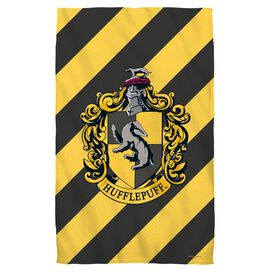 Harry Potter Hufflepuff Crest Towel White