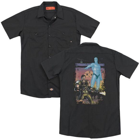 Watchmen Winning The War (Back Print) Adult Work Shirt