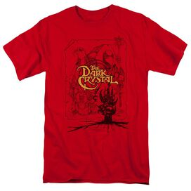 Dark Crystal Poster Lines Short Sleeve Adult T-Shirt